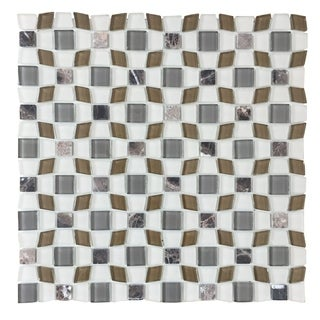 Instant Mosaic Peel and Stick 12 inch Glass Mosaic Wall Tile (12 sheets)