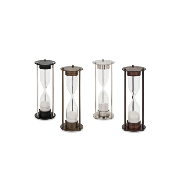 Sand Timers In Metal Construction Assortment of 4 Multicolor