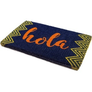 "Handmade Hola Extra Thick Durable Doormat - 18"" x 30"" (India)"