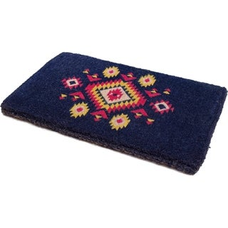 """Handmade Qi Extra Thick Durable Doormat - 18"""" x 30"""" (India)"""