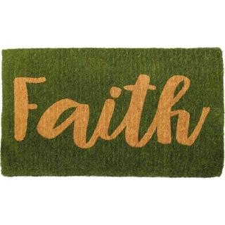 "Handmade Faith Extra Thick Durable Doormat - 18"" x 30"" (India)"
