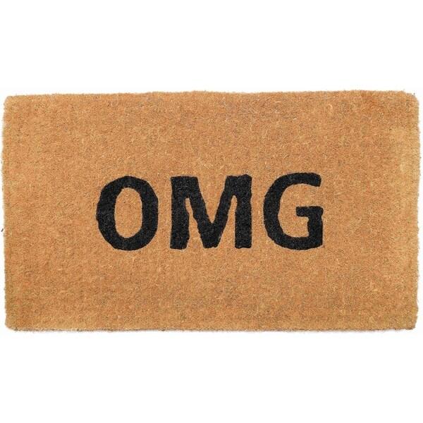 "Handmade OMG Extra Thick Durable Doormat - 18"" x 30"" (India)"
