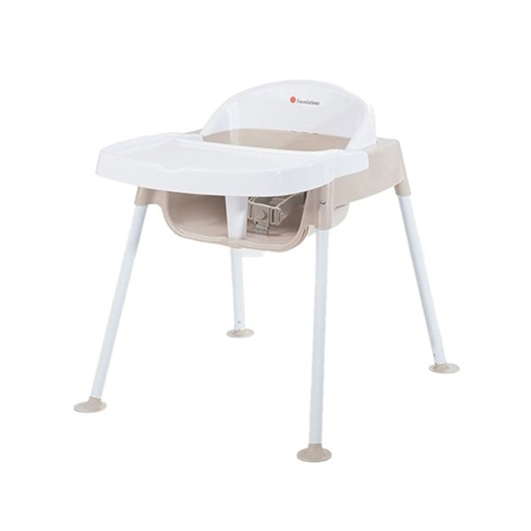 """Foundations Secure Sitter Feeding Chair 13"""" Seat Height in White and Tan"""