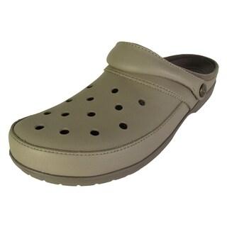 Crocs ColorLite Clog Shoes, Khaki/Walnut