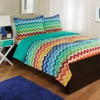 Rainbow Chevron Comforter Set