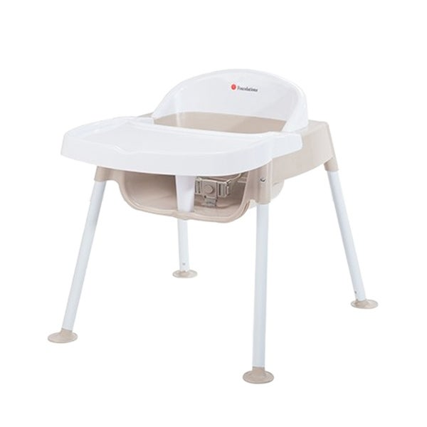 """Foundations Secure Sitter Feeding Chair 11"""" Seat Height in White and Tan"""