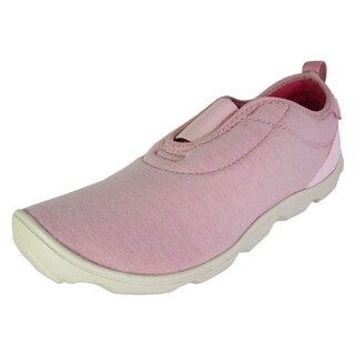 Crocs Womens Duet Busy Day Heathered Easy On Shoe, Pearl Pink/Stucco