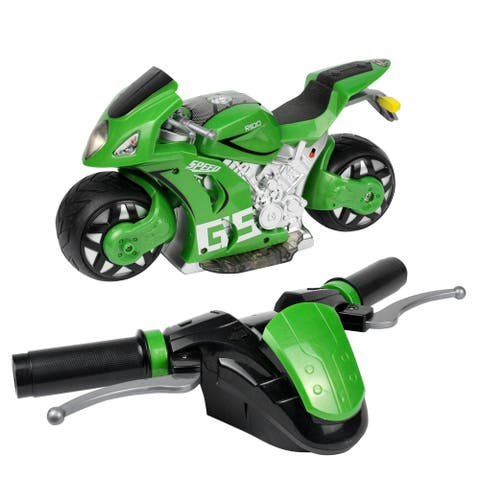 RC Motorcycle with Rechargeable Battery.