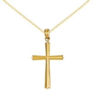 Versil 14 Karat Cross Pendant with 18-inch Chain