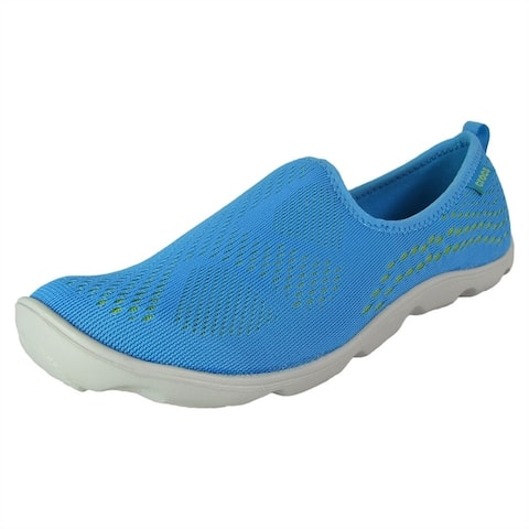 Crocs Women Duet Busy Day Xpress Mesh Skimmer Shoes Bold Blue/Volt Green by  Today Sale Only