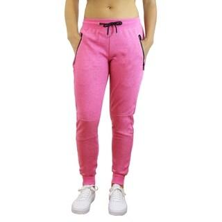 American Diva Women's Tech Joggers With Zipper Pockets