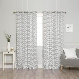 Aurora Home Modern Geometric Blackout Curtain Panel Pair