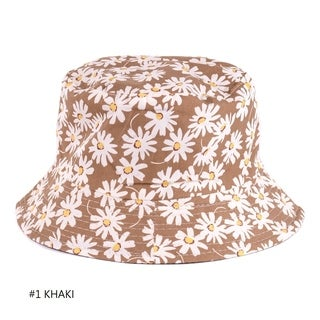Fashion Packable Reversible Black Printed Fisherman Bucket Sun Hat, Many Patterns