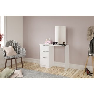 Polifurniture New Minas Vanity with Mirror, White