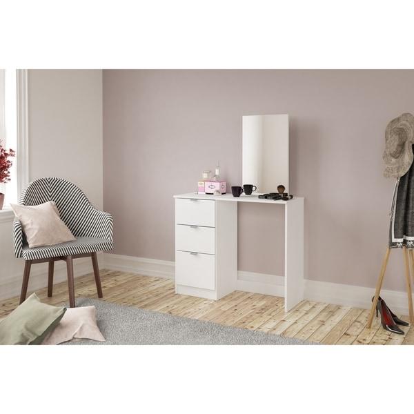 Polifurniture New Minas Vanity with Mirror, White