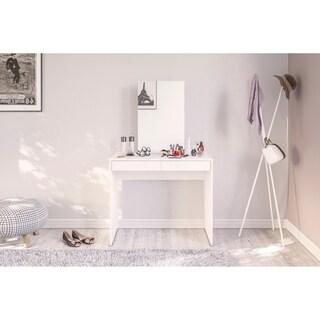 Polifurniture Conquista Vanity with Mirror, White