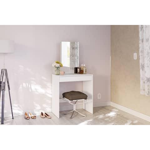 Polifurniture Kansas Vanity with Mirror, White