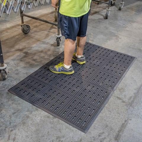 Buffalo Tools 3 x 5 Foot Anti-Fatigue Rubber Mat