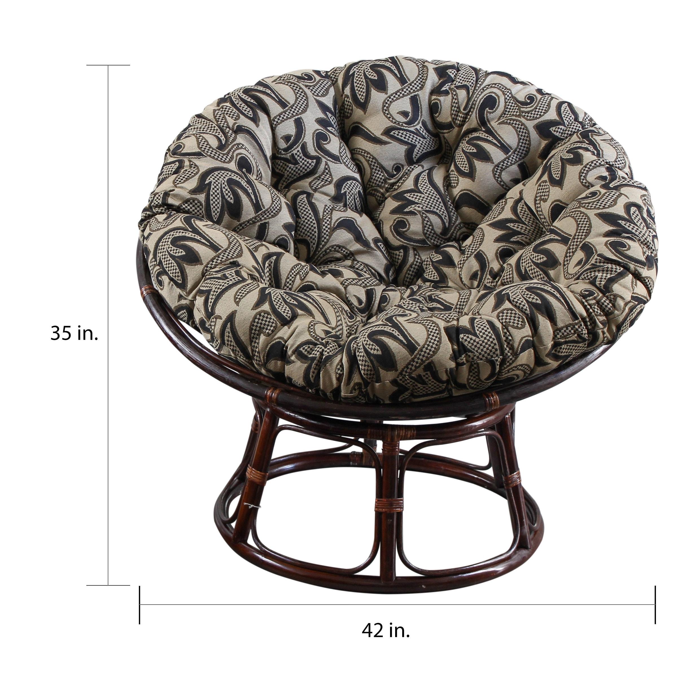 Amazing Details About International Caravan Bali 42 Inch Papasan Chair With Machost Co Dining Chair Design Ideas Machostcouk
