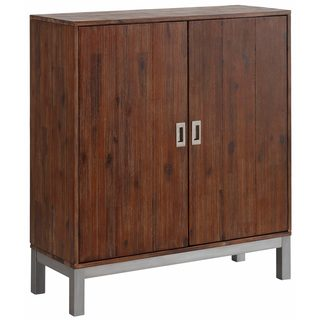 Congo Acacia Wood and Metal 2 Door Cabinet