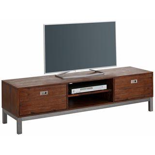 Congo Acacia Wood and Metal 2 Door TV-Lowboard Entertainment Center