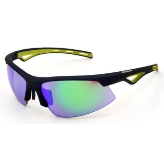 Ironman 'Swim' Navy Frame with Green Mirror Lens Sunglasses