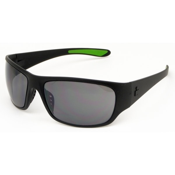 acb13e2ffa Shop Ironman Men s  Ironflex  Black Frame Silver Mirror Lens Sunglasses -  Free Shipping On Orders Over  45 - Overstock.com - 21540862