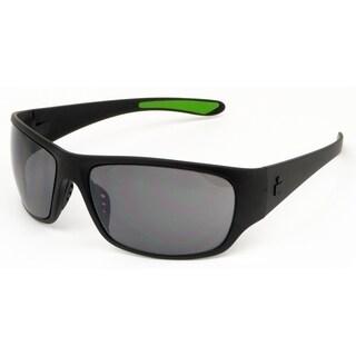 Ironman Men's 'Ironflex' Black Frame Silver Mirror Lens Sunglasses