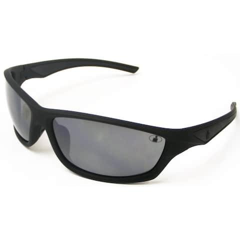 Ironman Men's 'Relentless' Matte Black Frame Mirrored Lens Sunglasses