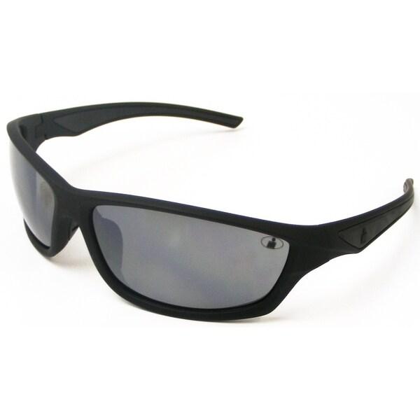 Ironman Men's 'Relentless' Matte Black Frame Mirrored Lens Sunglasses. Opens flyout.