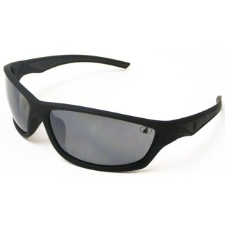 Ironman Men's 'Relentless' Matte Black Frame Mirrored Lens Sunglasses