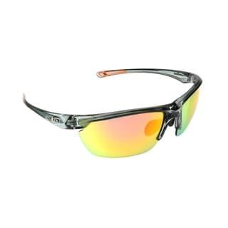 Ironman 'Joule' Crystal Frame Orange Mirror Lens Sunglasses