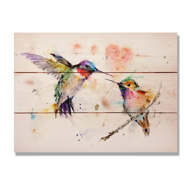 Love Birds 15x11 Indoor Outdoor Wall Art Multi Color