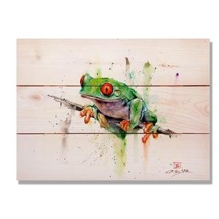 Tree Frog - 15x11 Indoor/Outdoor Cedar Wall Art - Multi-color