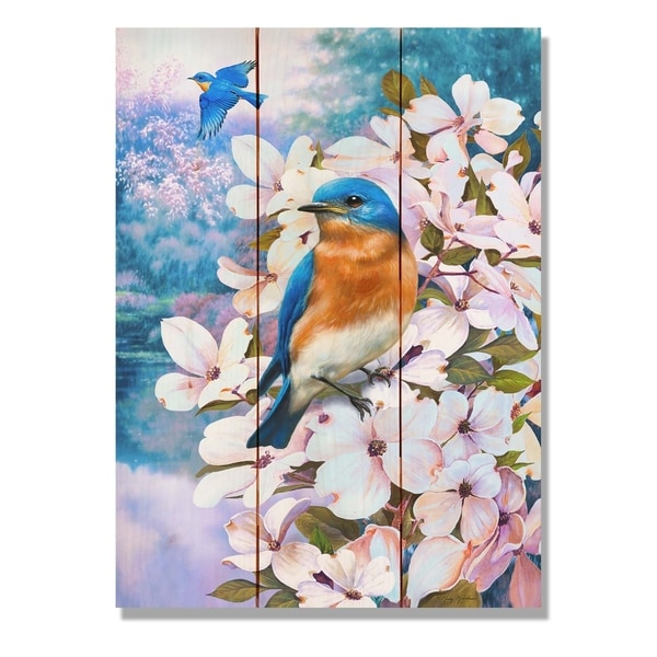Giordano's Bluebird - 11x15 Indoor/Outdoor Wall Art - Multi-color