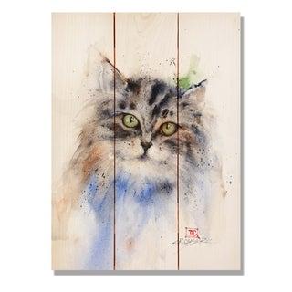 Kitty - 11x15 Indoor/Outdoor Cedar Wall Art - Multi-color