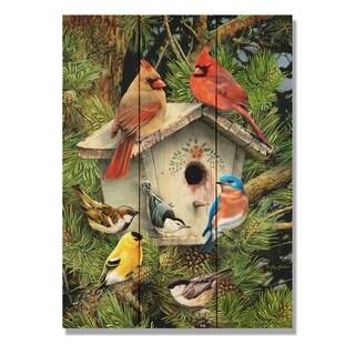 Giordano's Birdhouse - 11x15 Indoor/Outdoor Cedar Wall Art - Multi-color