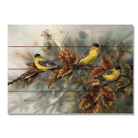 Bartholet's Gold Finches - 20x14 Indoor/Outdoor Wall Art - Multi-color