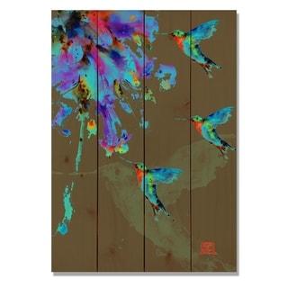 Neon Hummingbirds - 14x20 Indoor/Outdoor Wall Art - Multi-color