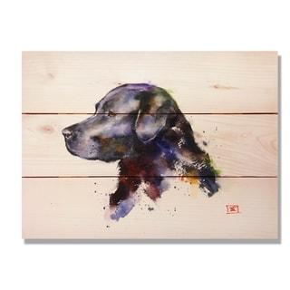 Black Lab - 15x11 Indoor/Outdoor Wall Art - Multi-color