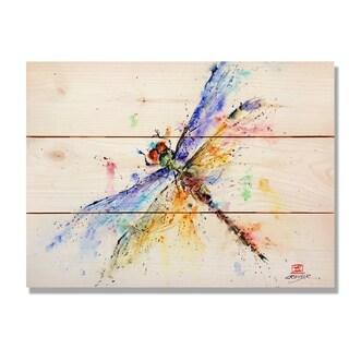 Pond Dragonfly - 15x11 Indoor/Outdoor Cedar Wall Art - Multi-color