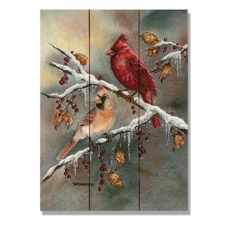 Bartholet's Winter Cardinals - 11x15 Indoor/Outdoor Wall Art - Multi-color