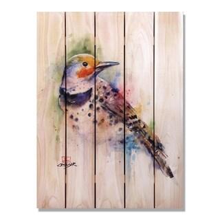 Crouser's Colorful Bird 28x36 - Indoor/Outdoor Cedar Wall Art - Multi-color