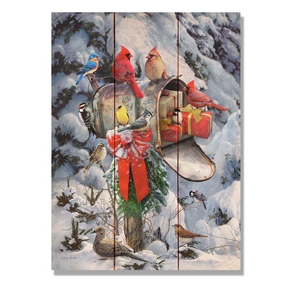 Giordano S Birds At Mailbox 11x15 Indoor Outdoor Wall Art Multi Color