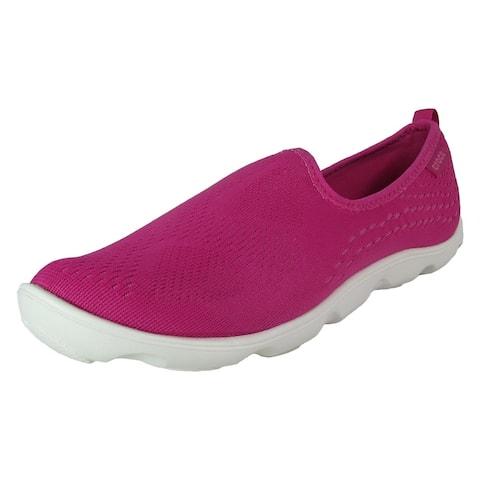 Crocs Women Duet Busy Day Xpress Mesh Skimmer Shoes, Candy Pink Lemonade