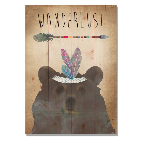 Wanderlust 14x20 Indoor Outdoor Wall Art Multi Color