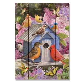 Giordano's Spring Birdhouse - 14x20 Indoor/Outdoor Wall Art - Multi-color