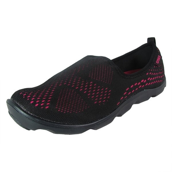 1bcf9f8b51e3ac Shop Crocs Women Duet Busy Day Xpress Mesh Skimmer Shoes