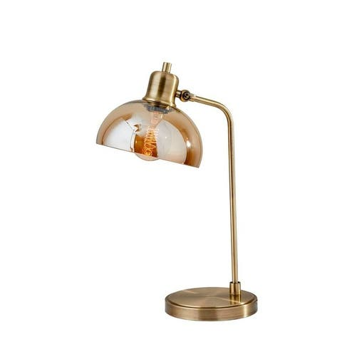 Adesso Lily Antique Brass Desk Lamp