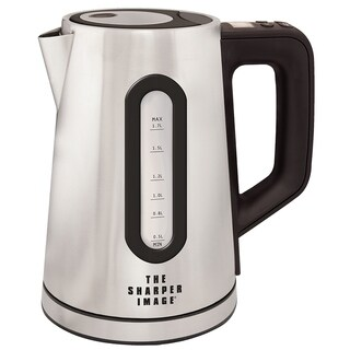 The Sharper Image Select-A-Temp 1.7L Stainless Steel Cordless Digital Kettle